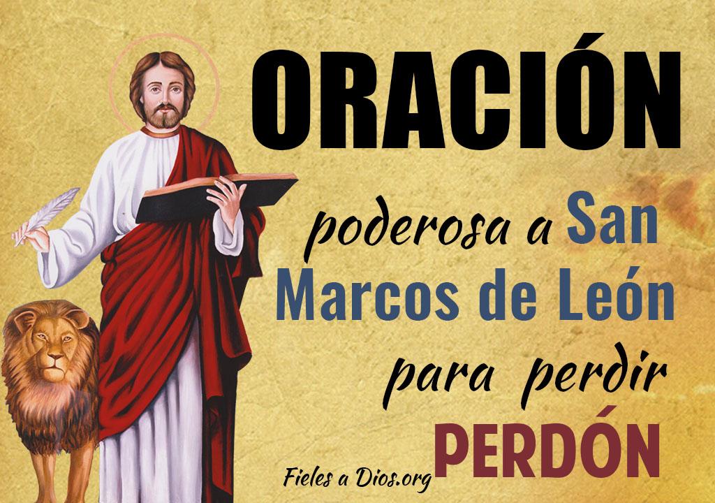 Oración poderosa a San Marcos de León para pedir su perdón