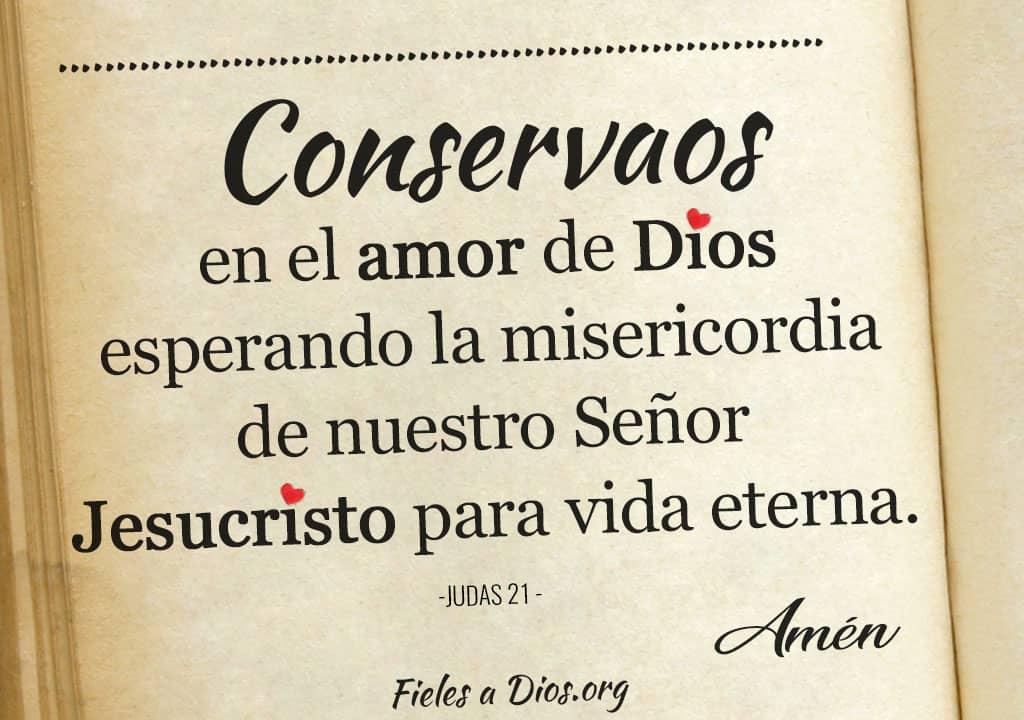 imagen conservaos en el amor de dios esperando la misericordia de nuestro senor jesucristo para vida eterna
