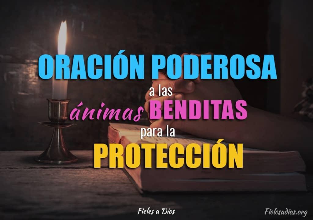persona en oracion para la proteccion las animas benditas