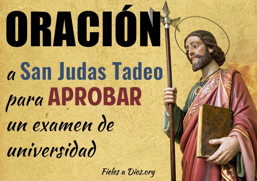 Oración a San Judas Tadeo para aprobar un examen de la universidad