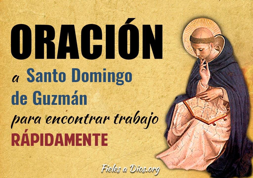 Oración a Santo Domingo de Guzmán para encontrar trabajo rápidamente