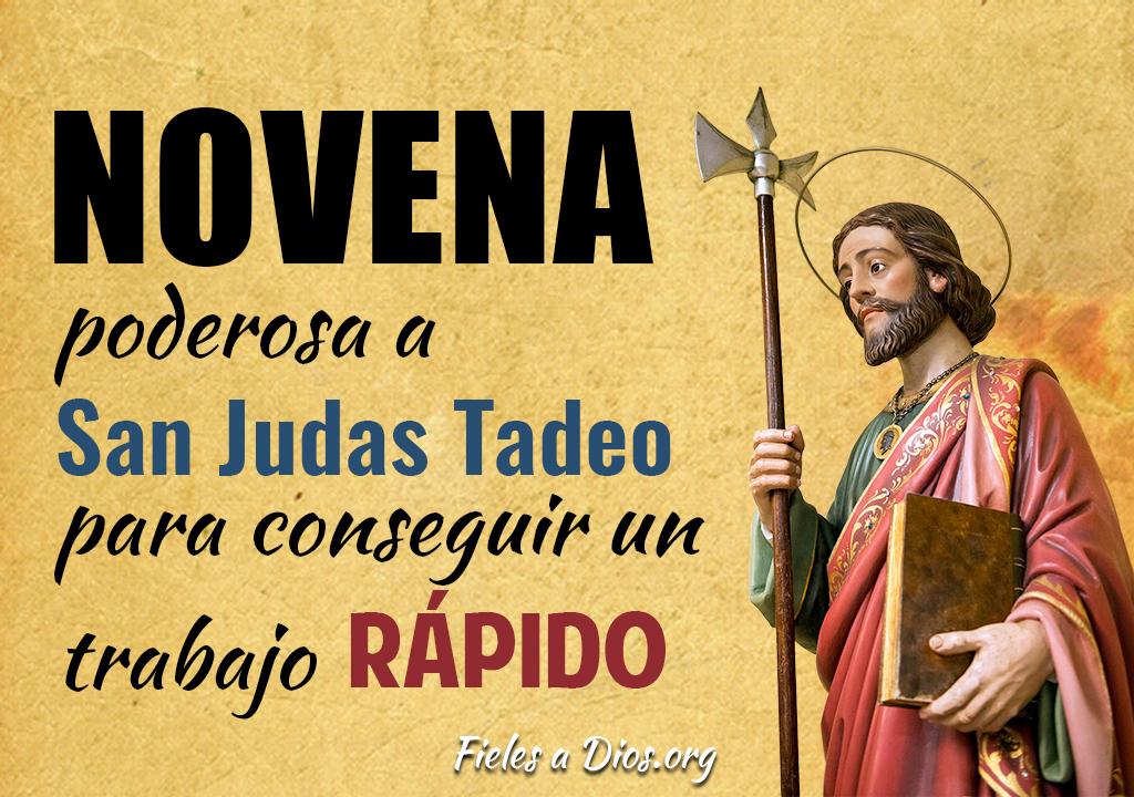 Novena poderosa a San Judas Tadeo para conseguir un trabajo rápido