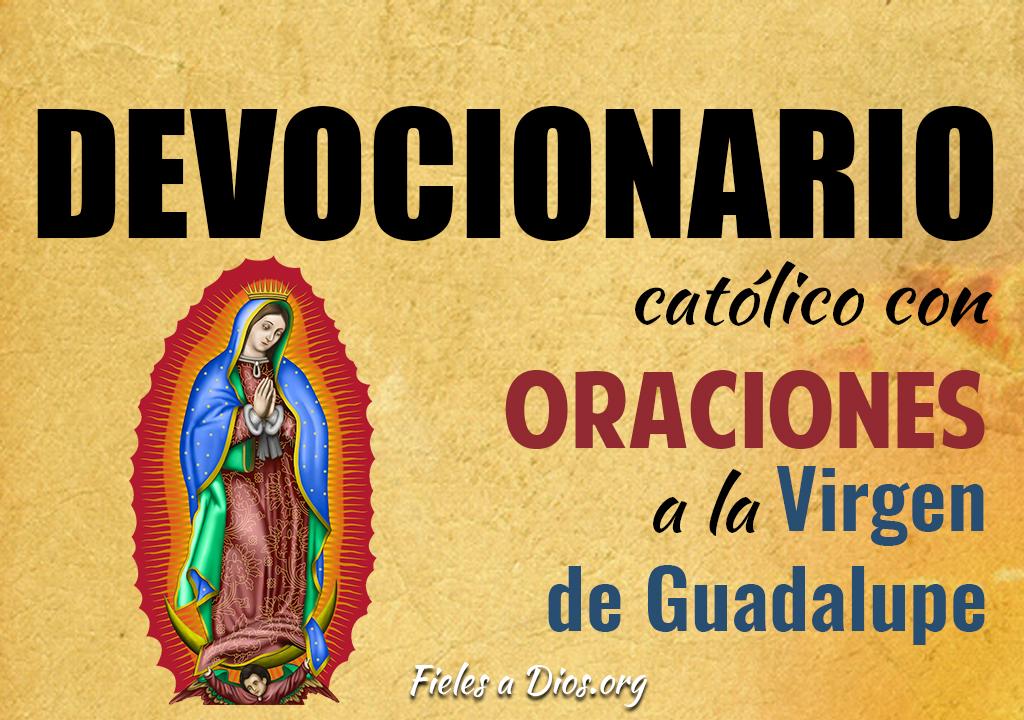Devocionario católico con oraciones a la Virgen de Guadalupe