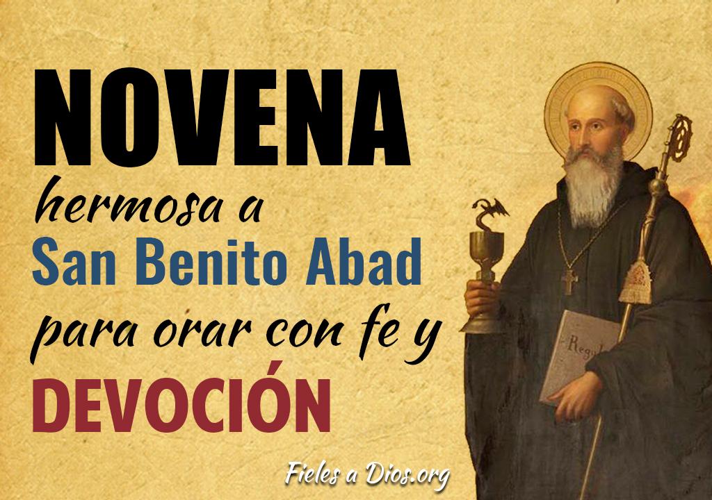 Novena hermosa a San Benito de Abad para orar con fe y devoción