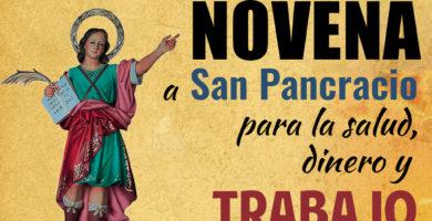 Novena a San Pancracio para la salud, dinero y trabajo