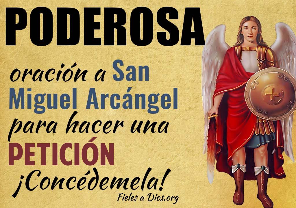 Poderosa oración a San Miguel Arcángel para hacer una petición ¡Concédemela!