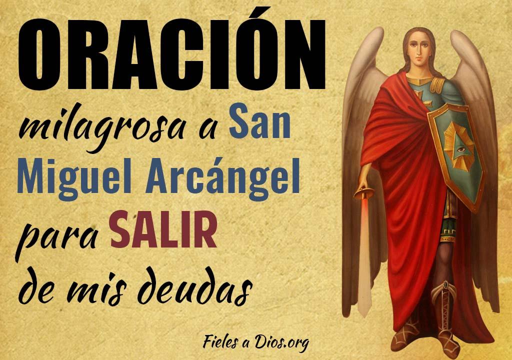 Oración milagrosa a San Miguel Arcángel para salir de mis deudas