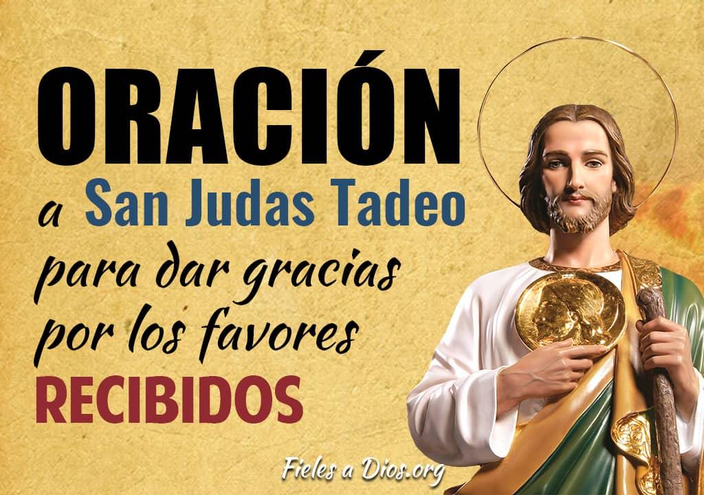 oracion a san judas tadeo para dar gracias por los favores recibidos
